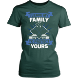I Leave My Family To Protect Yours Statement Shirt