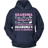 Grandma Endless Kisses Endless Love Statement Shirt