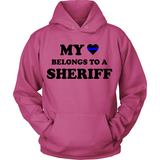 My Heart Belongs To A Sheriff Statement Shirt