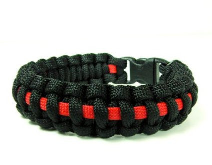 Thin Red Line Survival Paracord Bracelet