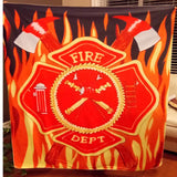 Awesome Firefighter Tapestry