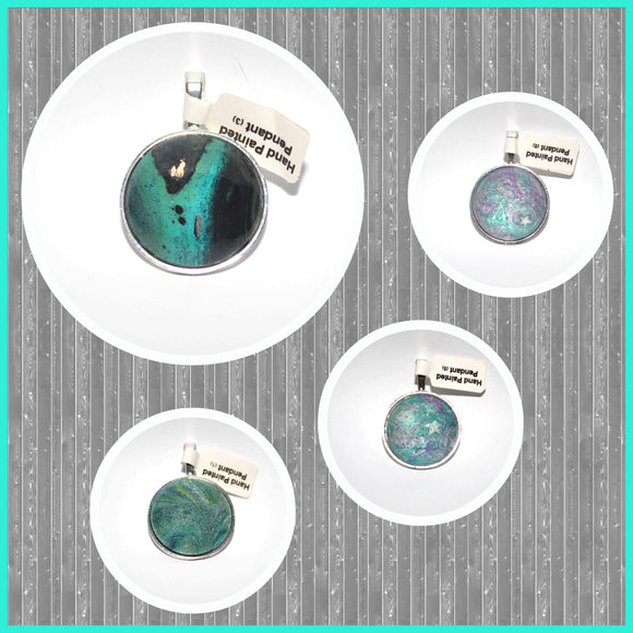 Hand Painted Cabochon Pendants