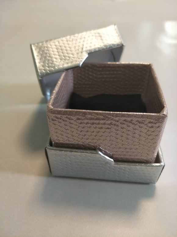 Silver and Rose Gold Ring Gift Box