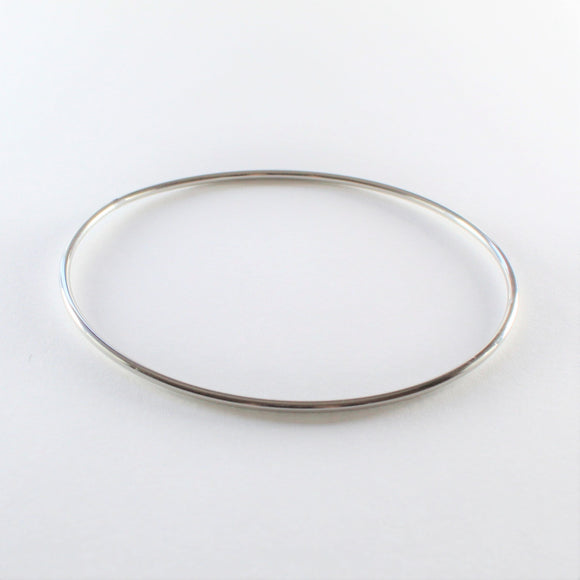 Stainless Steel Thin Rounded Bangle