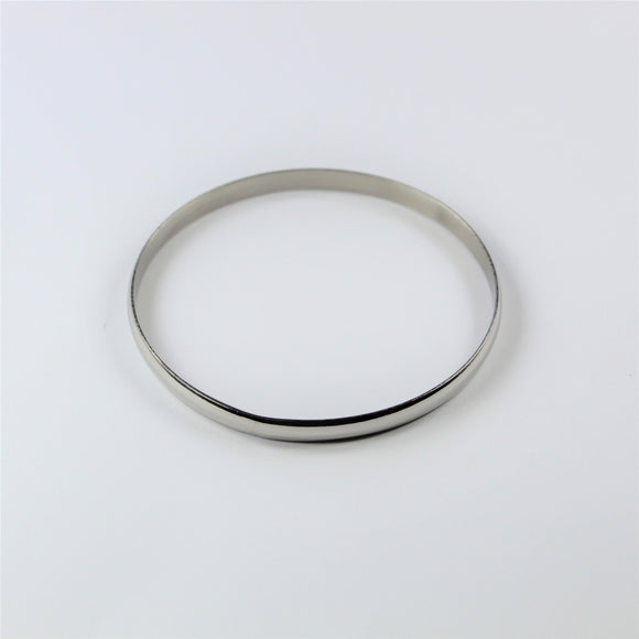 Stainless Steel Flat Bangle