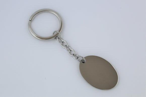 Stainless Steel Oval Keyring