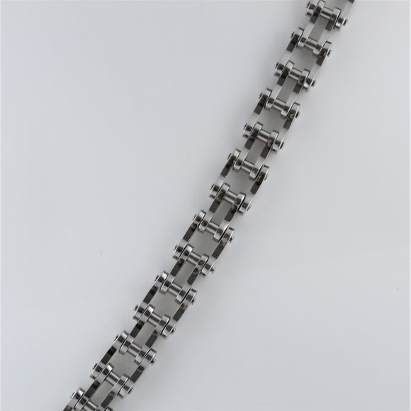 Stainless Steel Wide Bike Chain Bracelet