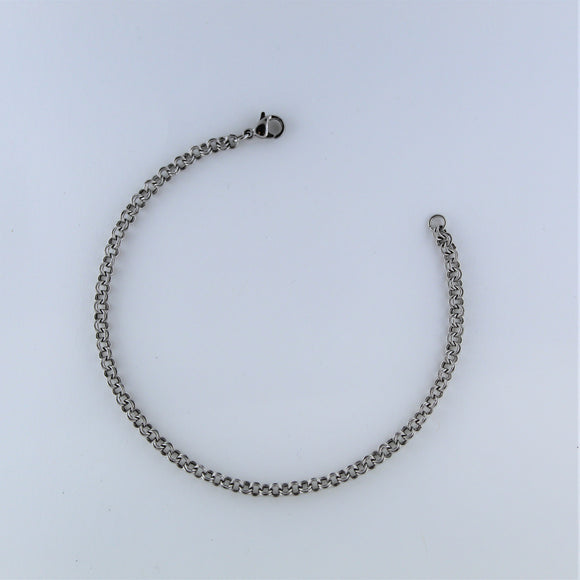 Stainless Steel Double Ring Bracelet