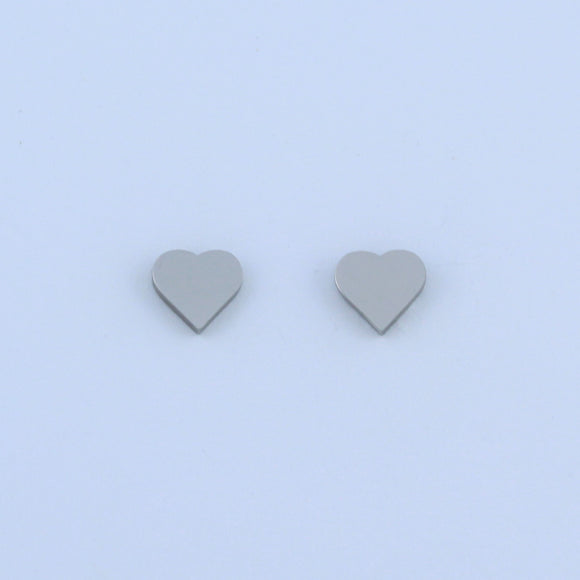 Stainless Steel Small Heart Earrings