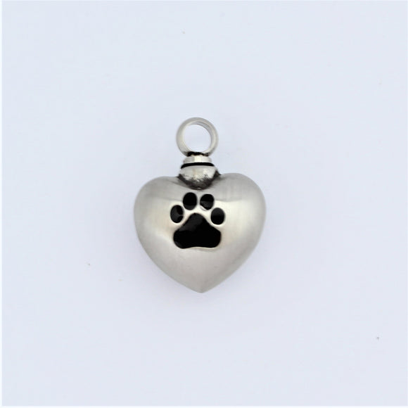 Stainless Steel Pet Heart Memorial Pendant