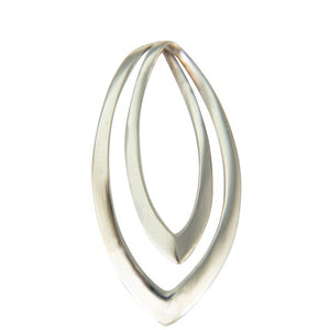 Sterling Silver Double Pointed Drop Pendant