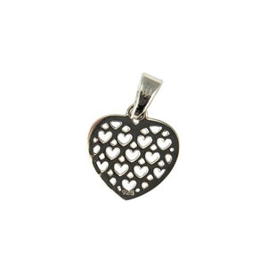 Sterling Silver Small Hearts Pendant