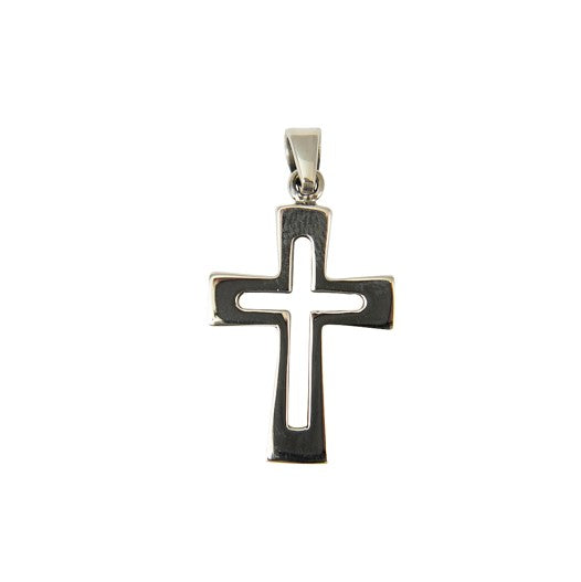 Sterling Silver Squared Cross Pendant
