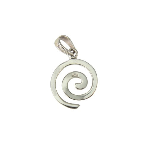 Sterling Silver Small Swirl Pendant
