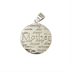 Sterling Silver Mother Disc Pendant