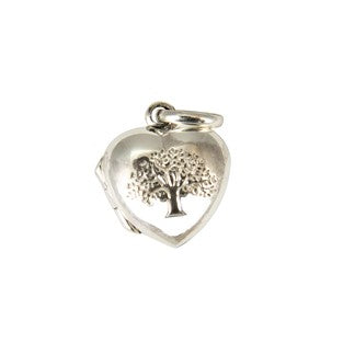 Sterling Silver Heart Locket with Tree Pendant