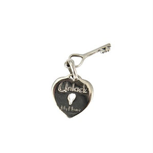 Sterling Silver Unlock My Heart Pendant