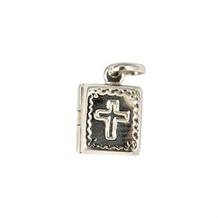 Sterling Silver Bible Locket Pendant