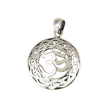 Sterling Silver Celtic OHM Pendant