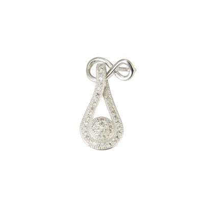 Sterling Silver Tear Drop CZ Pendant
