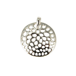 Sterling Silver Holed Disc Pendant