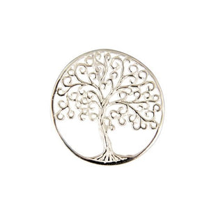 Sterling Silver Large Tree Of Life Slider Pendant