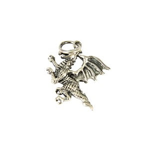 Sterling Silver Small Dragon Pendant