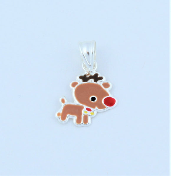 Sterling Silver Small Reindeer Pendant