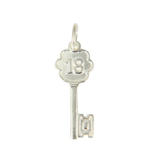 Sterling Silver 18 Key Pendant