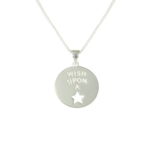 Sterling Silver Wish Upon A Star Pendant with Chain
