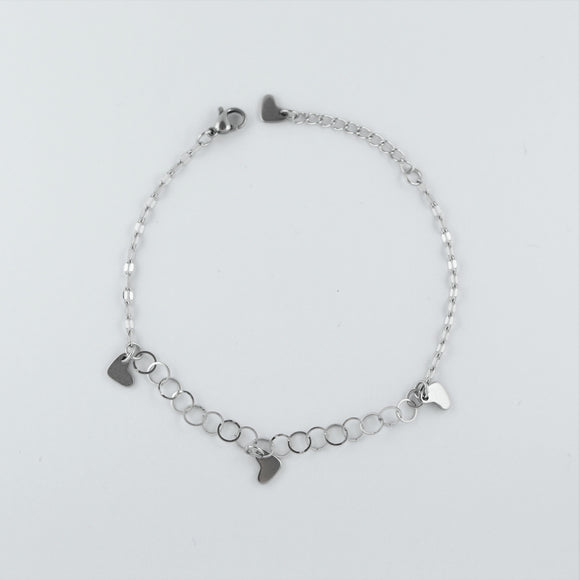 Stainless Steel Heart Anklet