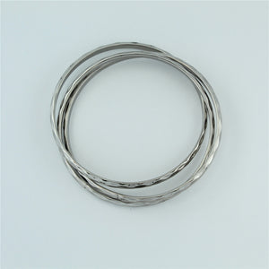 Stainless Steel 3 piece Ripple Bangle
