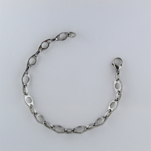 Stainless Steel Hexagonal Bracelet