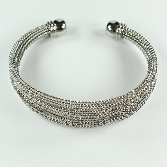 Stainless Steel Multi Twist Wire Cuff Bangle