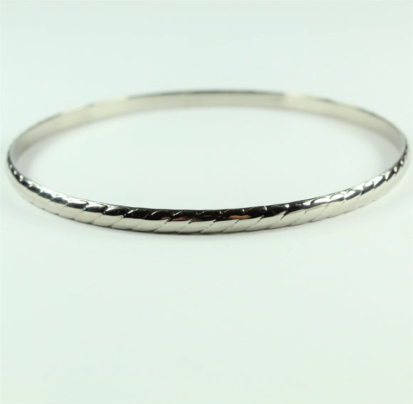 Stainless Steel Thin Twist Bangle