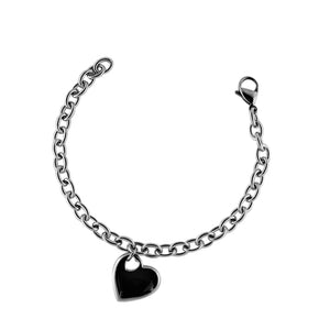 Stainless Steel Bracelet with Heart Charm