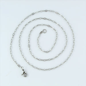 Stainless Steel Oval Chain 55cm