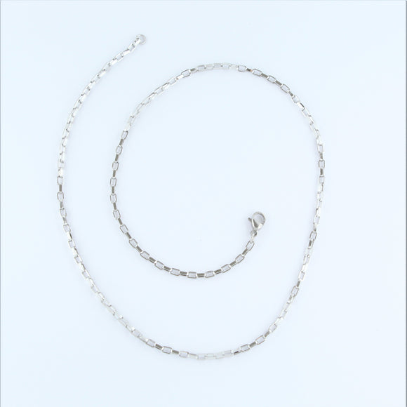 Stainless Steel Square Chain 44cm
