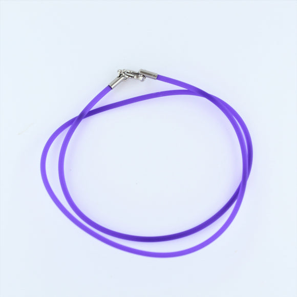 Stainless Steel Purple Rubber Cord 45cm