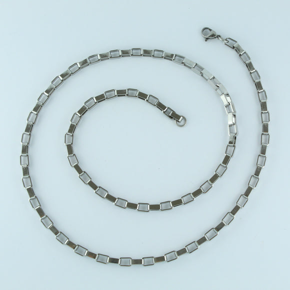 Stainless Steel Square Chain 60cm