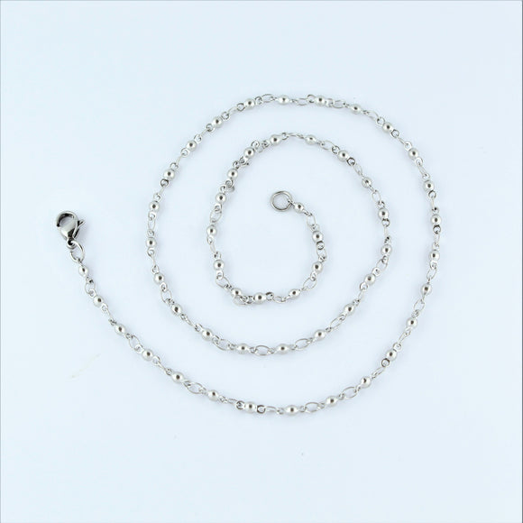 Stainless Steel Ball Chain 44cm
