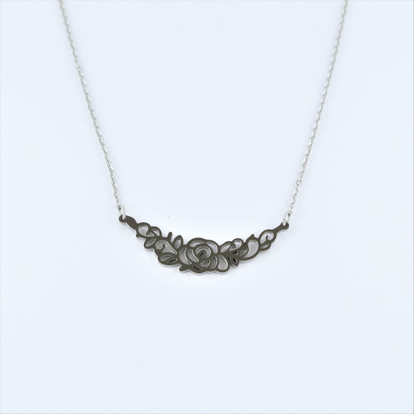 Stainless Steel Rose Garland Necklace 49 - 54cm