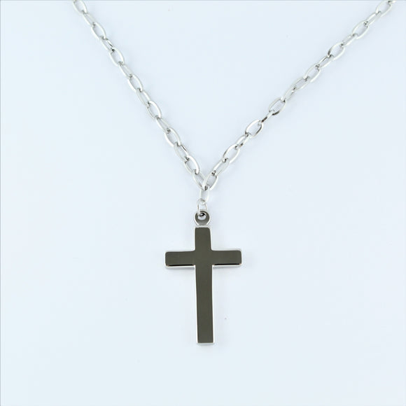 Stainless Steel Cross On Chain 50cm