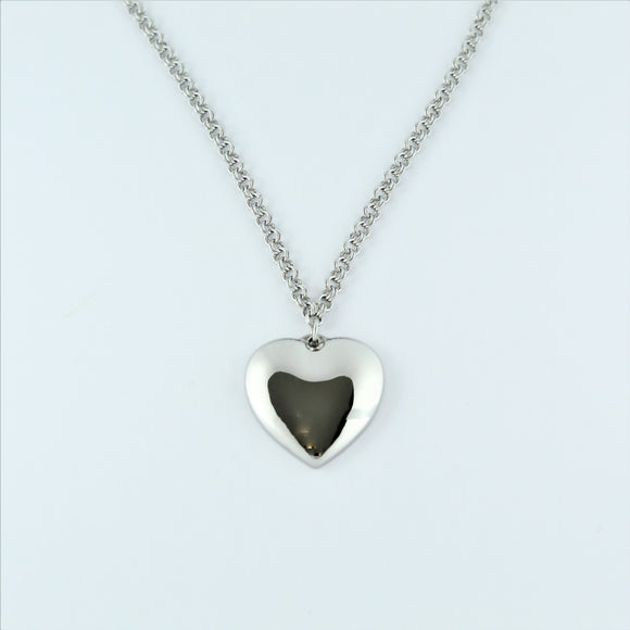 Stainless Steel Chain with Heart Pendant 50cm
