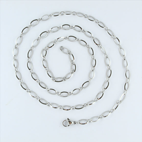 Stainless Steel Oval Chain 71cm