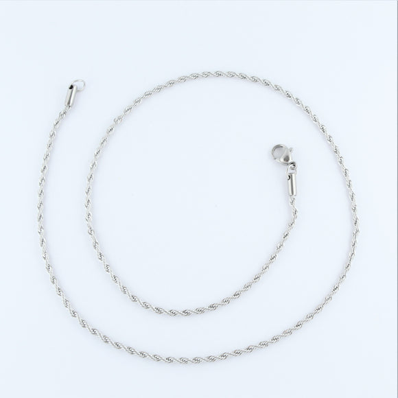 Stainless Steel Rope Chain 45cm
