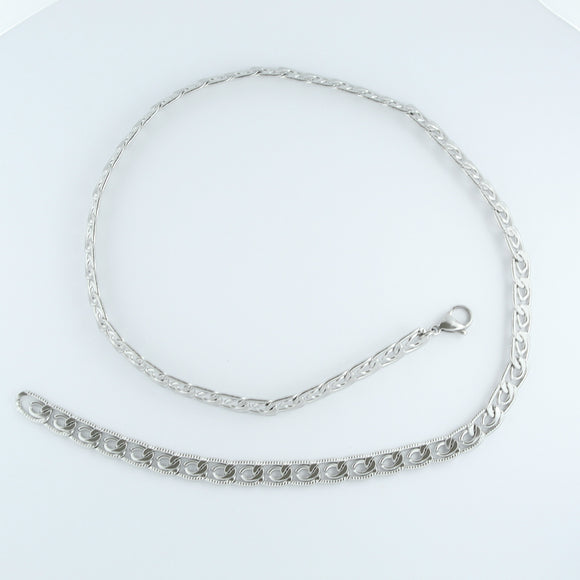 Stainless Steel Greek Chain 55cm