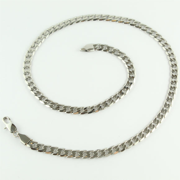 Stainless Steel Flat Curb Chain 45cm