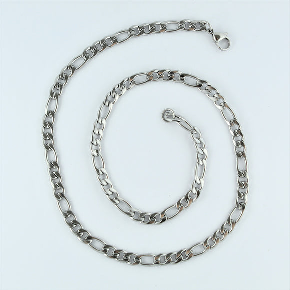 Stainless Steel Figaro Chain 45cm