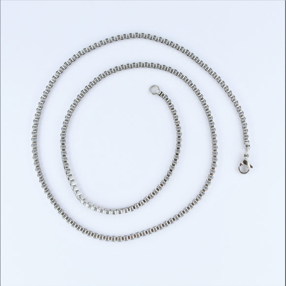Stainless Steel Box Chain 50cm